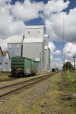 country grain elevator poster