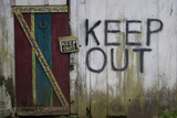 keep out sign poster