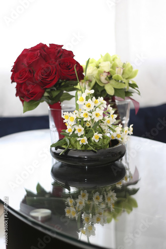 narcissus, rose, cybidiums