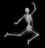 skeleton in motion - woman leaping 1 poster