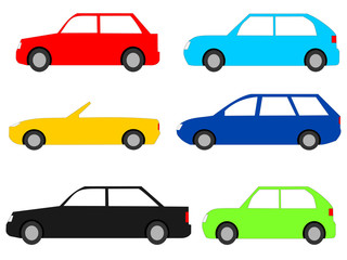 colourful cars with assorted designs