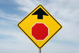 stop ahead sign poster