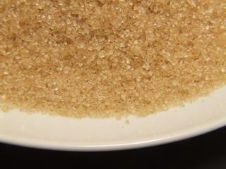 demerara sugar on plate 1