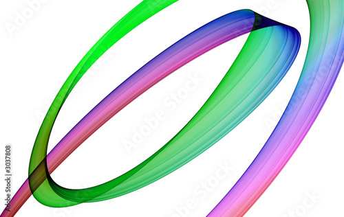 Fotobehang Fractal waves abstract multicolored background