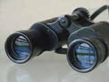 binoculars awaiting use poster
