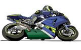 Fototapety motorbike, vector