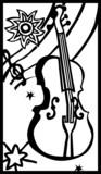 string bass vector poster