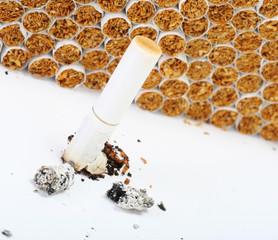 burnt cigarett