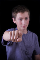teen pointing