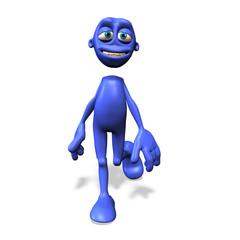blue man no. 1