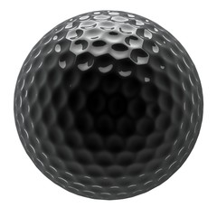 chrome golf ball