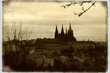 old postcard of grand cathedral st. vitus