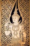thailand, bangkok: door of the golden buddha temple poster