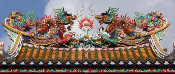 thailand, bangkok: chinatown, temple