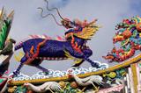 thailand, bangkok: chinatown, temple poster