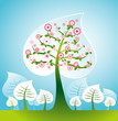 roleta: illustration with trees,vector