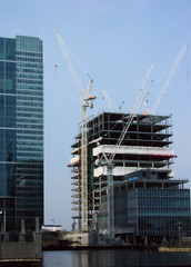 canary warf - construction site