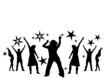 Leinwanddruck Bild - dancing at a party