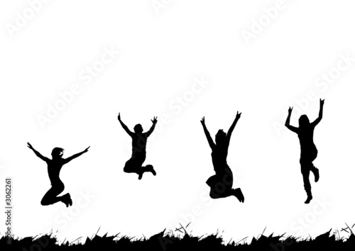 Leinwanddruck Bild happy people