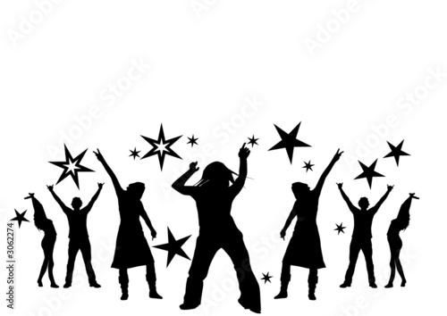 Leinwanddruck Bild dancing at a party