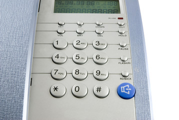 silver modern telephone