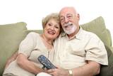 seniors enjoying television poster