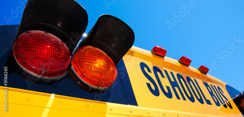 close - up of yellow school bus - 3066265