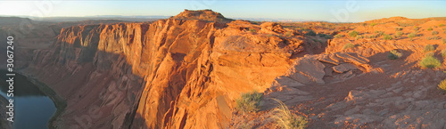 brown cliffs with the desert at the sunset, horseshoe bend, unit