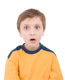 surprised boy portrait poster
