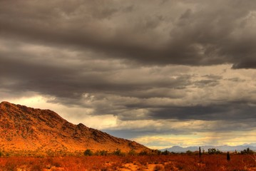 desert mountain storm