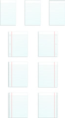 ruled paper blank templates