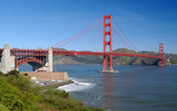 golden gate bridge and fort point poster