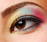 yellow-blue-red eyeshadows poster