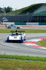 racing car at the track