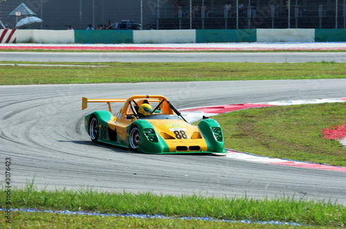 Foto op Canvas Snelle auto s race car at the track