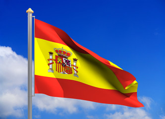 spain flag (include clipping path)