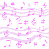 music notes wrap poster