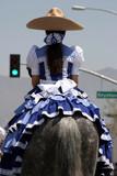 mexican girl riding a horse poster