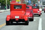 retro cars on parade poster