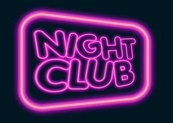 night club neon sign