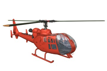 hélicoptère rouge