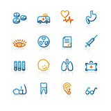 contour medical icons poster