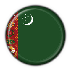 bottone bandiera turkmenistan button flag