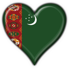 bottone cuore turkmenistan button heart flag