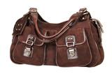 suede female handbag poster