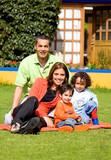 family having fun outdoors poster