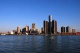 detroit skyline in daytime poster