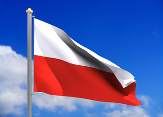 poland flag (include clipping path)
