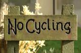 no cycling poster