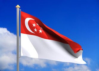 singapore flag (include clipping path)